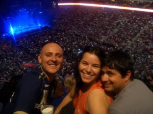 Eu, Rebeca e Tony no show do Paul McCartney, em Phoenix, em 2010