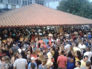 Clube Renacença lotado, especialmente de paulistas!